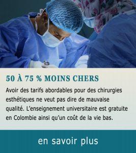 Chirurgie esthétique 50 % moins chères
