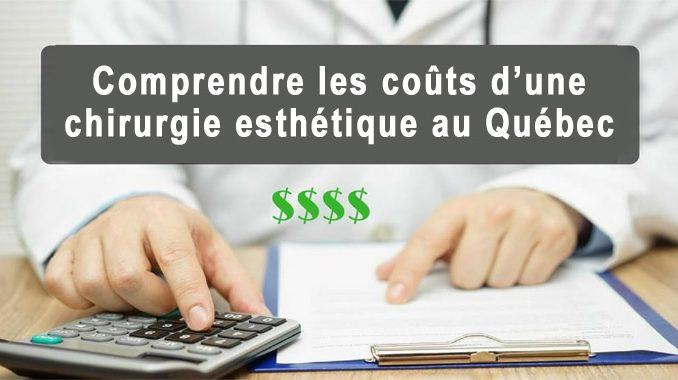 Coûts d'une chirurgie esthétique au Québec
