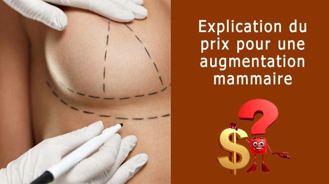 Prix augmentation mammaire