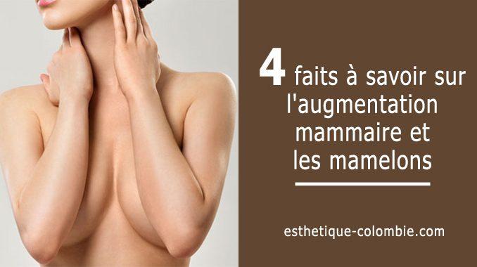 augmentation mammaire et les mamelons