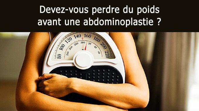 perdre du poids avant une abdominoplastie