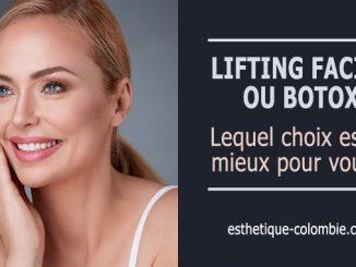 Lifting facial ou botox