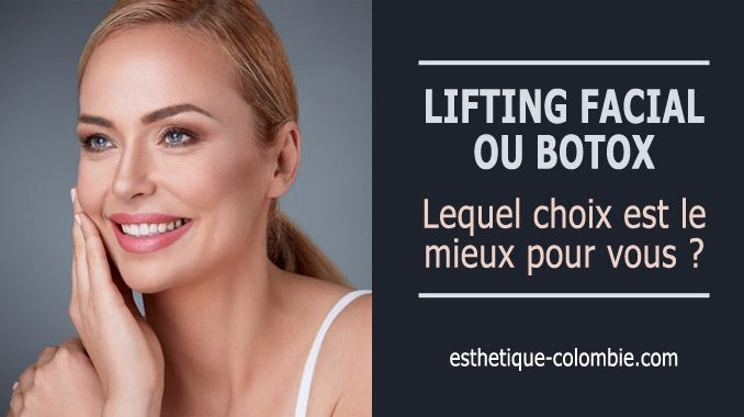 Lifting facial ou botox