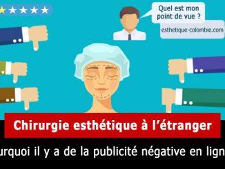 Publicité négative sur la chirurgie esthétique