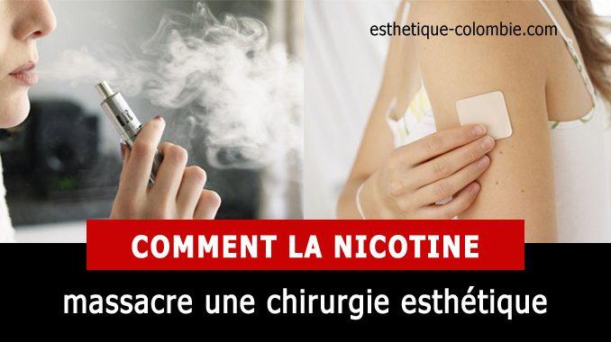 Comment la nicotine massacre une chirurgie plastique