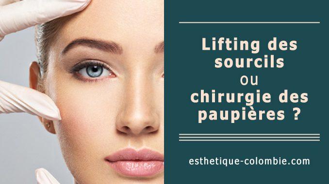 Lifting des sourcils ou chirurgie des paupières ?