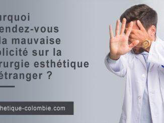 mauvaise publicité sur la chirurgie esthétique à l'étranger